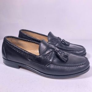 Allen Edmonds Maxfield Black Tassel Loafer Shoes